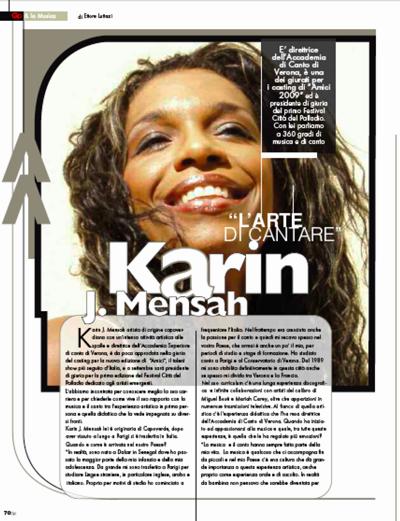 L'Arena e il metodo di canto di Karin Mensah